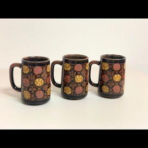 Vintage 1960s Hand-Made Mugs
